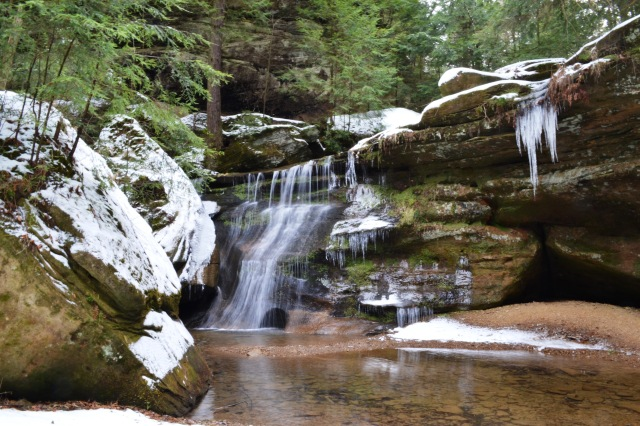 Small Icy Waterfall @ Hocking Hills