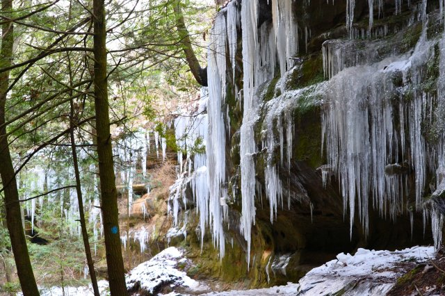 Cascade of Ice ~ Hocking Hills in Winter